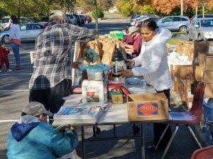 Senior Food Distribution and Senior Club hang out