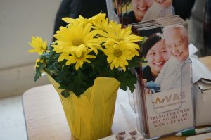 Photo of Adult Day Care Brochure with Flowers.